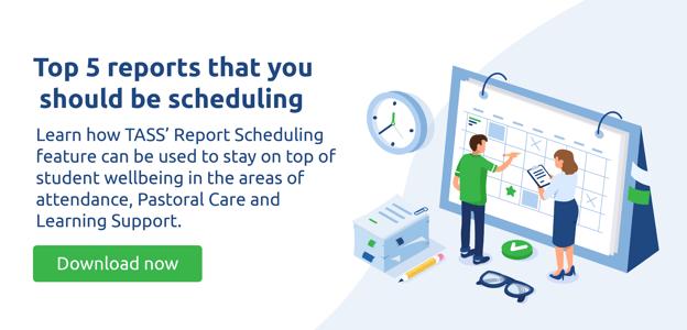 Report scheduling download resource